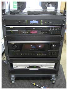 Audio Video Equipment Rack