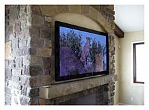 Plasma TV Installed Over Fireplace